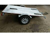 Motorcycle/flat bed trailer
