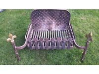 Cast iron fire grate and guard