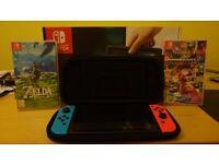 Nintendo Switch Neon + Zelda + Mario Kart