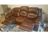 3 & 2 seater leather recliner