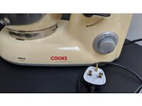 Electric Stand Mixer Food Processor, 5 Litre Mixing Bowl by Cooks Professional (Cream)