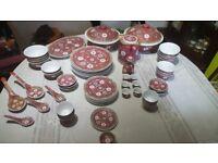 Exquisite Chinese Dinner Service - Rose Mun Shou Longevity Vintage Porcelain. BARGAIN £80