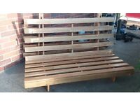 Futon base for sale - beech wood, excellent condition