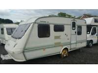 Elddis pamperos xl 5 berth caravan comes with awning bargain ideal family starter van