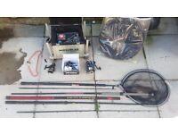 fishing rod reel seating box keep net landing net