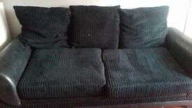 Black couch. Good condition. Free. Pick up rosneath. All covers come off to wash.