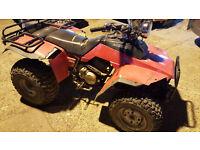 Quads. Honda trx250 Kawasaki Bayou 300 Both with reverse Both Shaft Drive and tow bars