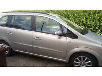 Vauxhall Zafira 1.6 club 06 7 seater no tax and no Mot £700