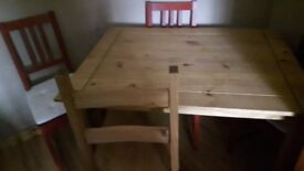 Mexican Pine Table & Chairs #price drop#