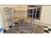 Breakfast dining set table with 2 chairs
