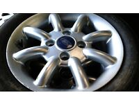 Ford ka alloys set of 4 with 165 60 14 tyres
