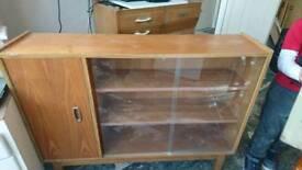 Vintage slim display cabinet