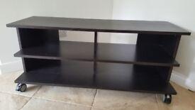 Ikea Benno TV Bench/Stand wheeled black/brown
