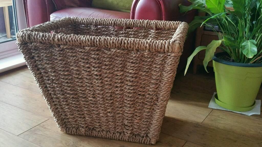 SOLD SOLD Large log basket