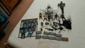 Star wars 9 figures including Darth Vader, 2 vehicles with all accessories,/stands/dice game