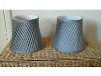 Silver lampshades