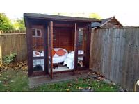 6' x 8' Summerhouse, fully glazed, tongue and groove, properly preserved, with Furniture