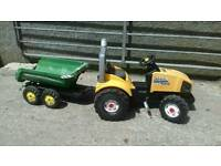 Kids pedal tractor AND tipping trailer