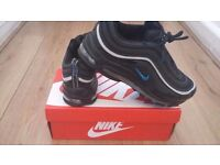NEW 2016 NIKE AIR MAX 97 BLACK AND BLUE SIZE 8
