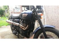 Triumph Scrambler 865cc in lovely original condition having covered just over 3000 miles.