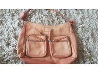 Leather Handbag (Faded Tan colour) Lakeland