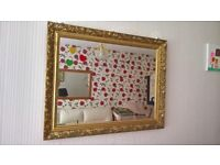 Offer! Gold frame beautiful wall MIRROR 71 cm x 56 cm