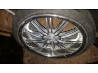 """Zito Belair 19"""" Inch 5x114.3 Chrome & Silver Alloy Wheels With 235/35/19 Tyres NISSAN TOYOTA ETC"""