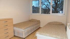 Twin room in All Saints ( near canary wharf ) 190 pw or single 150 pw!!