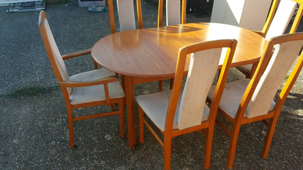 Table and 6 chairs free delivery