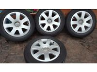 "GENUINE ALLOY WHEELS AUDI 16"" A3 A4 B6 B7 CABRIO 8H0601025E 5x112 VW CADDY"