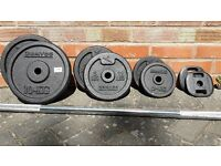 DOMYO CAST IRON WEIGHTS SET & BAR
