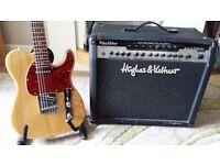 Telecaster-G&L (Leo Fender) ASAT Tribute in Natural and H&K Matrix 100 watt Combo