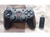 Gioteck Wireless PS3 Controller, Battery Operated with USB Attachment to the Console, Black