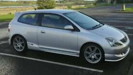 Honda Civic Type R - 2004 - Silver, Full Service History and only 3 owners from new.