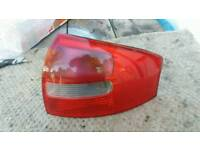 Audi A6 C6 saloon tail light cluster.