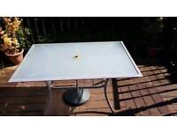 Metal and glass garden table very sturdy
