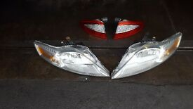 Mondeo headlights headlight front rear left right mk4 2009