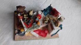'Father Christmas Came' pottery scene by Peter Fagan