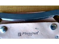 Flexcut draw knife with sheath and sharpening stone