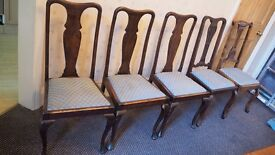 Antique/ Vintage Solid wood high backed dining chairs
