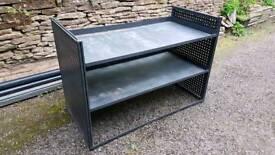 Metal van racking/shelves