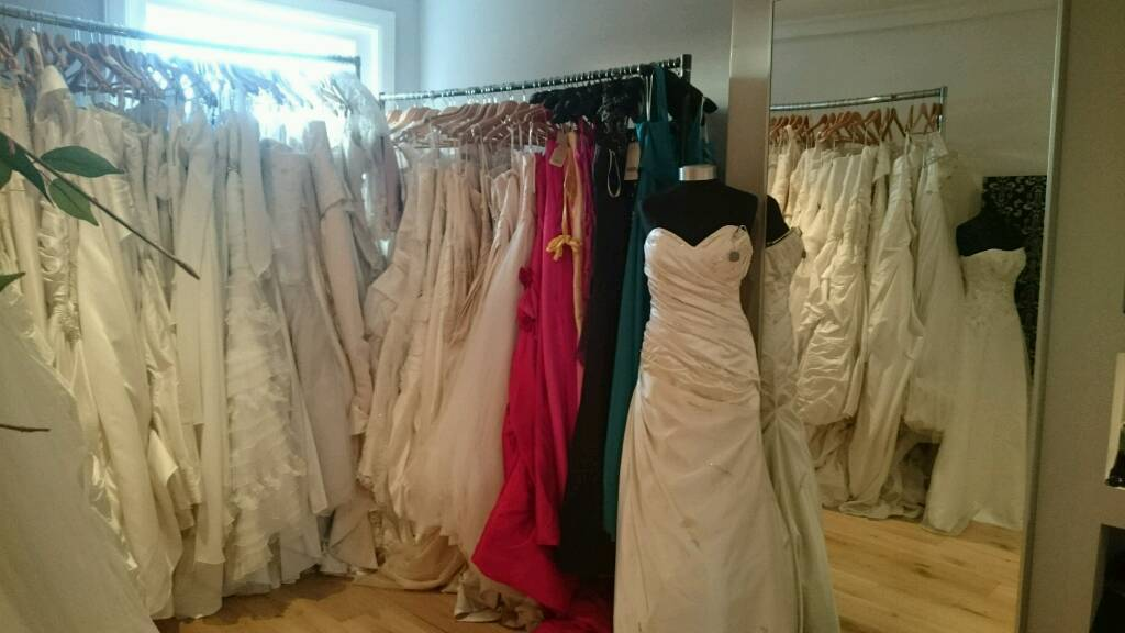 Ex sample prom and wedding gowns for sale