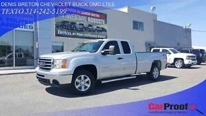 2012 GMC Sierra 1500 4WD EXTENDED CAB SLE, BOÎTE 8 PIEDS!!