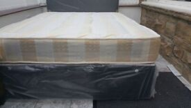💛💛Great Quality💛💛NEW DOUBLE DIVAN BED BASE INCLUDING MATTRESS (Headboard Optional)