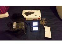 Nintendo DS Lite black VGC With 2 Games, Console,bag case, manual