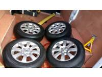 """Vauxhall 15"""" alloys perfect condition good tyres"""