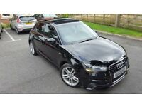 Audi a1 1.6 tdi s line 5dr manual fsh panoramic-sunroof hpi clear