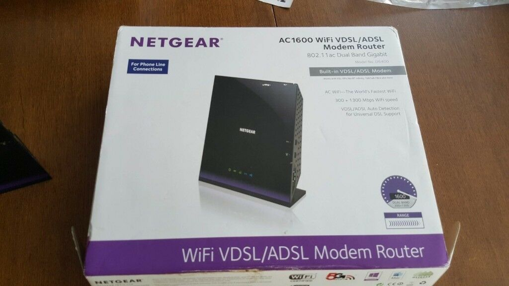 Netgear AC 1600 WiFi VDSL/ADSL Modem Router D6400 | in Plymouth, Devon |  Gumtree