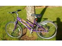 Raleigh Krush 18 speed girls bike