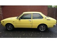 toyota corolla classic 2dr 1977 1.2 lhd long mot superb runner rot free import